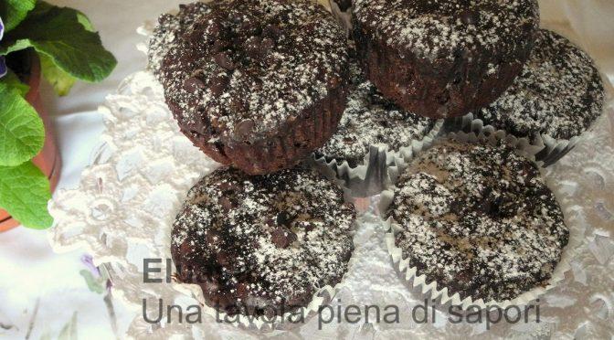 Muffin con tanto cioccolato