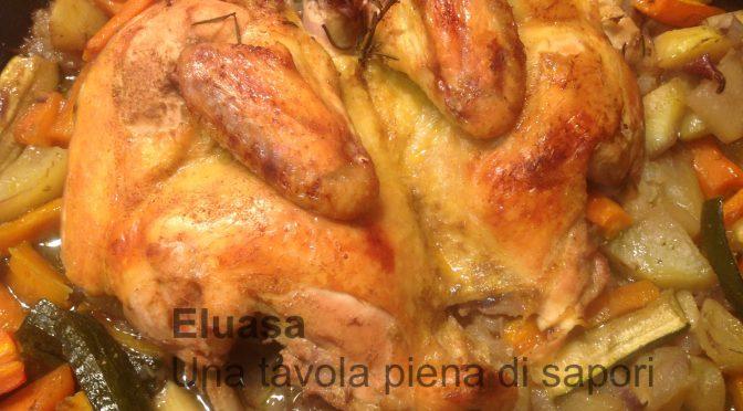 Pollo al forno con verdure miste e spezie