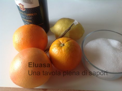 arance, limone, zucchero