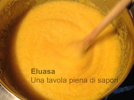 polenta in cottura