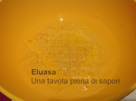gelatina in ammollo