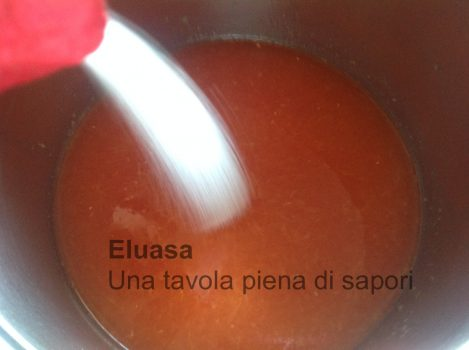 zucchero nel succo