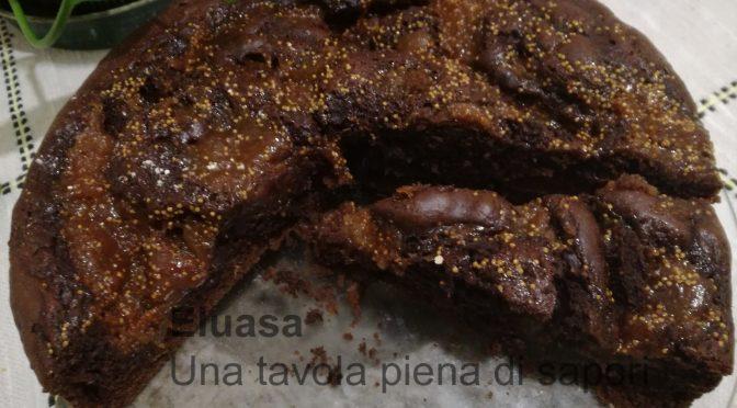 Torta al cioccolato con marmellata di fichi